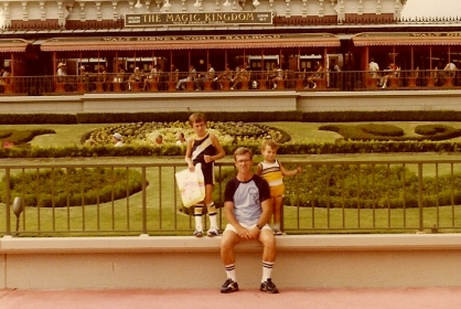 Disneyworld 8-7-81 Todd (9.5yrs) Dad and Greg (3.5 yrs)