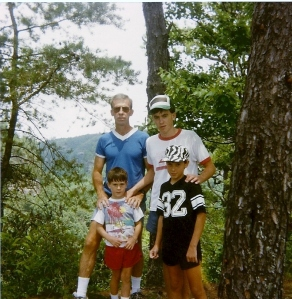 Natural Bridge - SKy Bridge July 1989 (George, Todd, Ryan, Greg