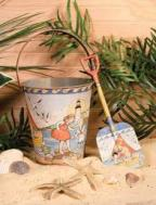 pail on beach - A-Z