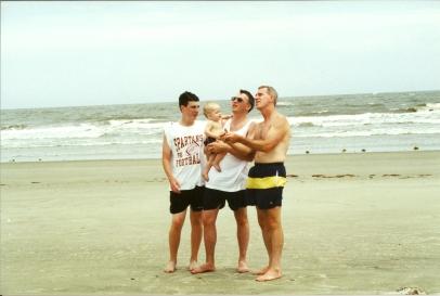 Ryan, Tyler, Todd, Dad - Kiawah 6-2000