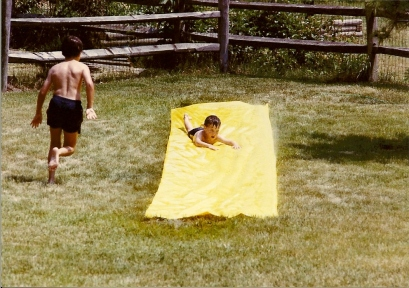 Slip-n-Slide - Greg (age 10.5) Ryan (age 4.5) June 1988