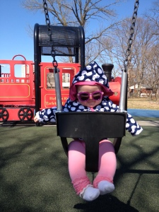 Swinging at the park 3-20-14 - Happy Spring