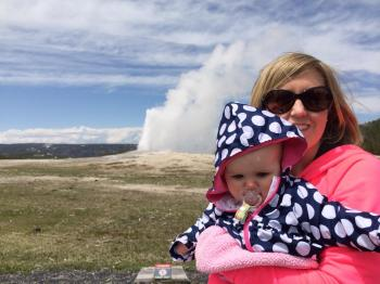 Megan and Josie at Yellowstone National Park 5-18-14