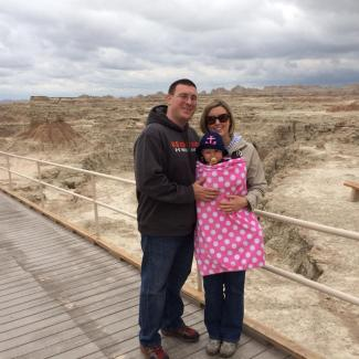 Ryan Megan Josie - Badlands National Park 5-16-19
