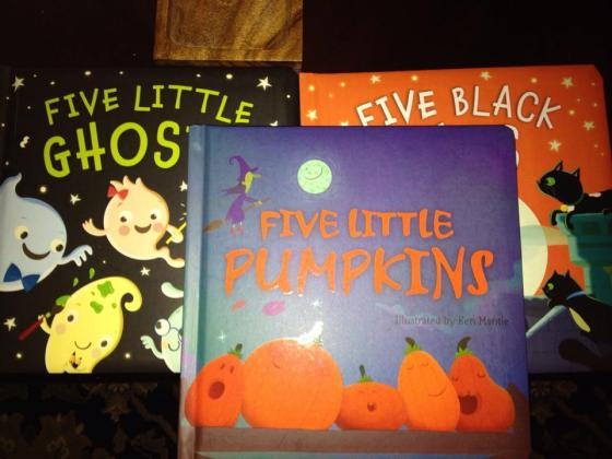 The James' are having a fun night of reading thanks to Grammie 10-13-14