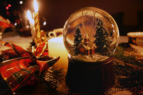 Snow-Globe-Christmas-Chrch and Trees