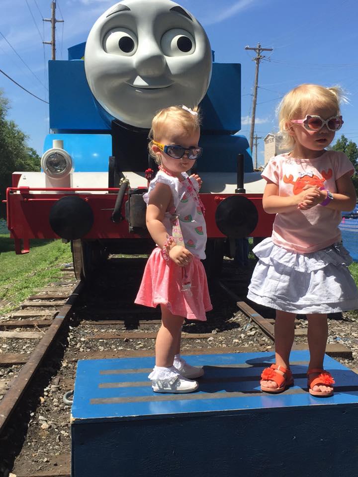 Josie and Brynn ride Thomas 8-21-15