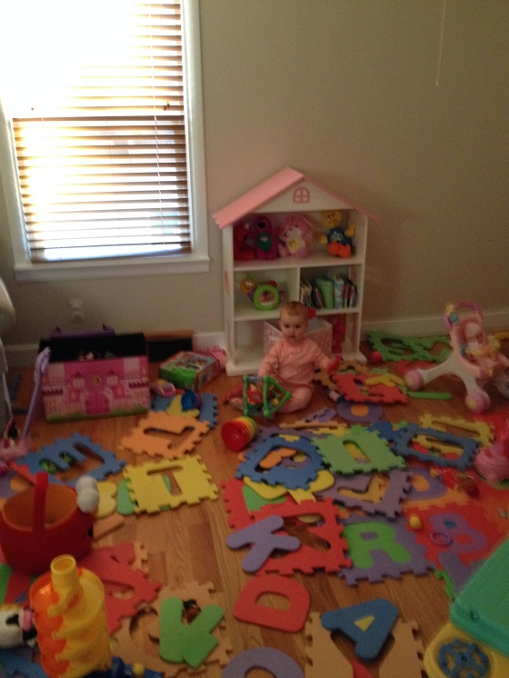 Rearranging the playroom 11-17-14