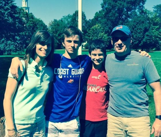 Tricia, Tyler, Taylor, Todd at Lexington, MA 9-6-15