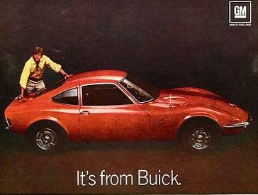 1969 Opal GT ad
