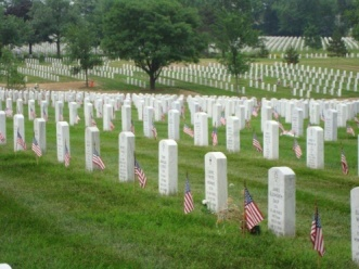 Graves with Flags
